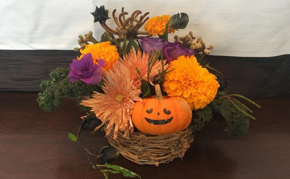 Flower School-Halloween Arrangement-