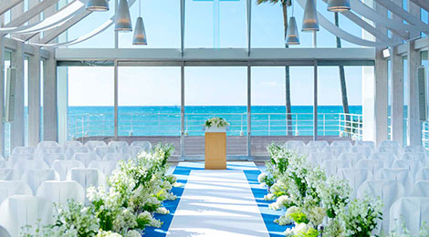 Ceremony at Seaside Chapel