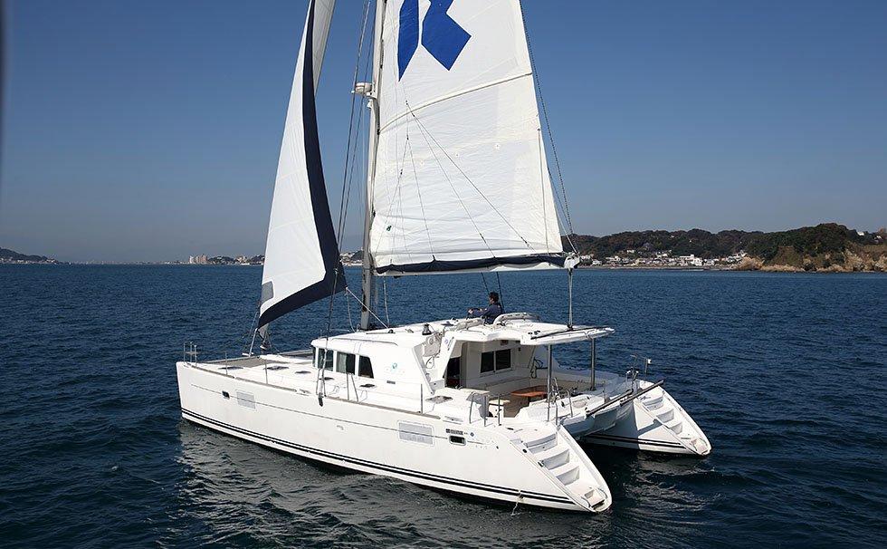 Large catamaran yacht